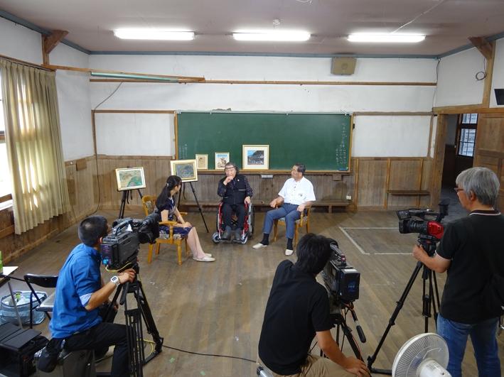 信州SBCテレビ撮影風景